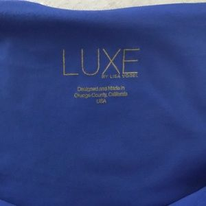 LUXE by Lisa Vogel Swim - Royal Blue LUXE by Lisa Vogel Bikini
